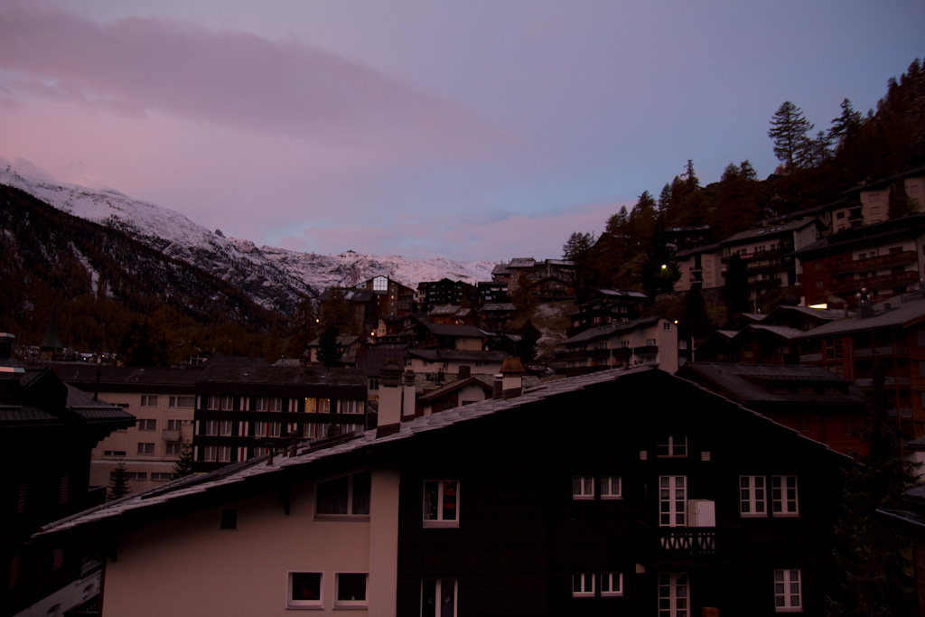 Sunrise in Zermatt