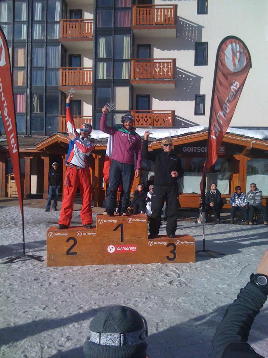 Tom podium in Val Thorens